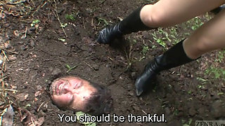 Subtitled Japanese principal outdoor burial pee baptism