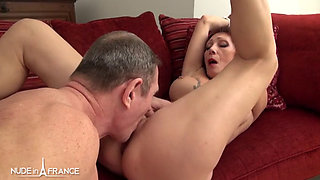 Sexy big-titted unfaithful and desperate-housewife calls cockservice and gets analyzed with cum-in-mouth