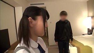 Miu Mizuno, amazing Asian teen enjoys kinky foursome