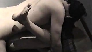 Couple has passionate sex on the stairs