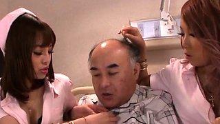 Horny asian nurse endures ramrod in extra harsh xxx play