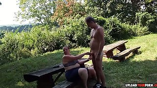 Horny Wife Dicked Outdoors