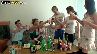 Kristene set up a great house party for her college fellows and girlfriends