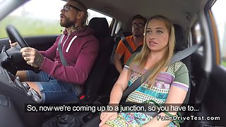 driving students banging in car