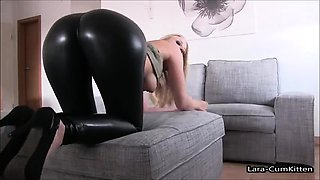 Sexy big boobs blonde milf gives her man a