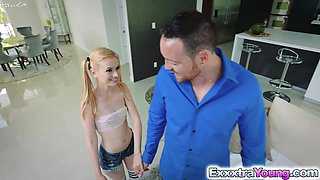 Hot teens Angel and Kennedy shared a giant dick