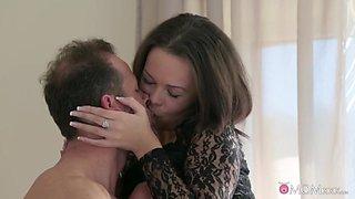 Hottest pornstars George, Linette in Incredible MILF, Big Tits sex video