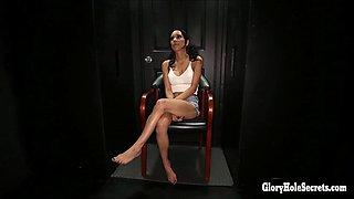 Gloryhole Secrets sexy latin spinners loves big dicks
