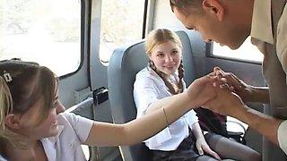 Teens banged on school bus