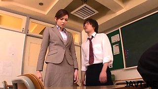 Excited japan teacher hard sex