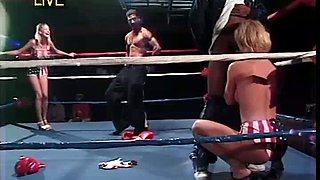 This blonde is one sexy boxing girl and she loves sucking her coach's dick