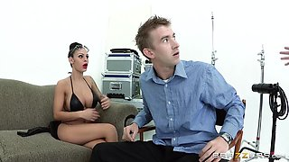 He Gets Hard While Talking To A Pornstar