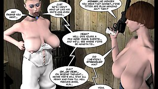 3D Comic. Six Gun Sisters. Episode 5