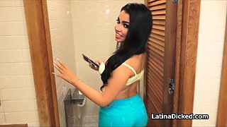 Bigtit gf blows at public toilet and garage