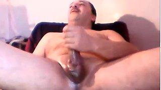 masturbate turkey Turkish Dad Hasan cums big load