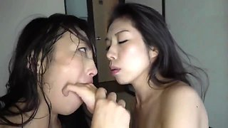 Jav-Lesbian-Wild Tongues Slobber and Saliva Kissing with Breast Milk p2