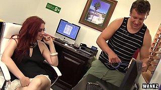 WANKZ Female Boss Finds Hard Cock In Office