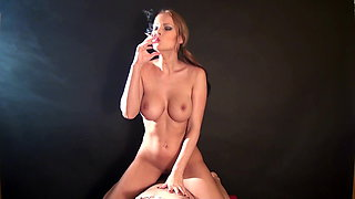 Erotic cowgirl sex and smoking
