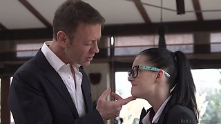 Rocco Siffredi fucks furiously two captivating college chicks