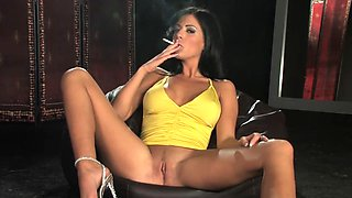 ella mai - smoking dildo masturbation.mp4