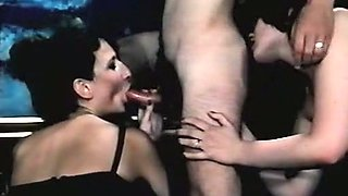 Cute and sexy Danish vintage sluts start hardcore orgy