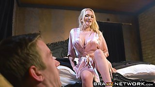 Hot milf Amber Jayne can't believe hot good Dannys cock is
