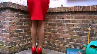 Secretary suzy tan stockings