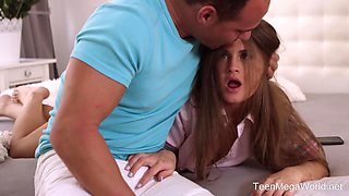 TeenMegaWorld -Fuck-Studies- Step-brother Tricked His Sister