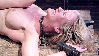 Orlando & Simone Sonay in Milf Gets Tormented And Machine Fucked - DeviceBondage