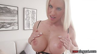 Glam beauty stuffed with bbc in POV