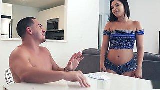 Latina babysitter tricks him into fucking her