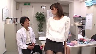 Ichika Kanhata Japanese office lady plays with her doctor boss