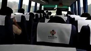 Girlfriend Masturbates On A Bus