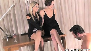 Hawt glamour chick dominates paramour into total submission