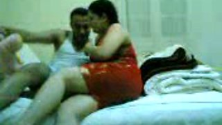 Romantic fore play with my beloved 32 years old brunette Arab wife