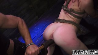 Nasty girl likes being dominated and drilled by a fuck machine