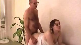 Old man fuck blonde