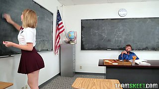 Charming college chick Iggy Amore seduces her handsome teacher