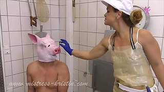 Fed, Castrated, Slaughtered - Pig Play with Mistress Kristin