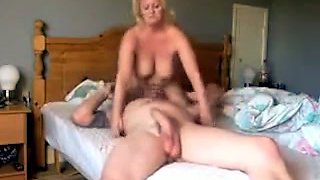 Horny blonde wife sucks my hard dick in 69 position when I lick her