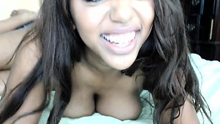 Beauty Ebony Teen Webcam toying