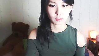Thai cute woman flashing