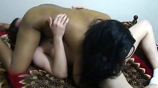 Eating delicious Indian wife in 69 position from the bottom