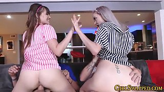 teen stepdaughters riding