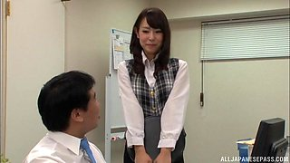 Imai Mayumi is a horny secretary ready to be seduced for a fuck