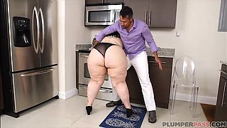 Huge Ass Latina Victoria Secret Fucks Hubby In Kitchen