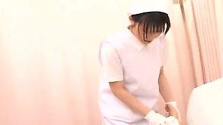 Subtitled CFNM Japanese nurse gives patient sponge bath