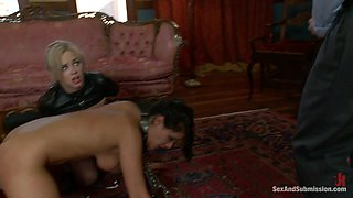 James Deen  Charley Chase  Katie Kox in The Wife and the Servant - SexAndSubmission