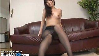 Japanese intense pantyhose sex with hot babe
