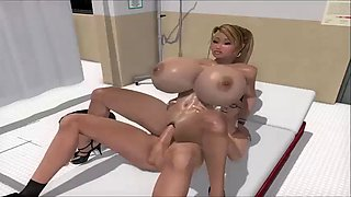 horny animated big tits blonde fucked by her doctor